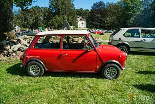 Side  of Innocenti Mini 120L 1.3 Manual, 64ps, 1975 at Sportbilsklassiker Stockamöllan 2019