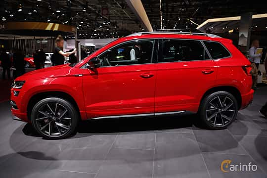 Sida av Skoda Karoq 2.0 TDI 4x4 Manual, 150ps, 2019 på Paris Motor Show 2018