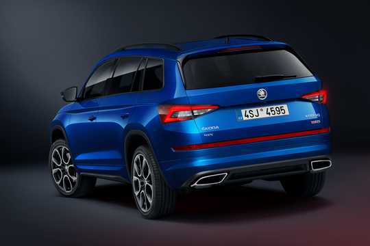 Back/Side of Skoda Kodiaq RS 2.0 TDI 4x4 DSG Sequential, 240hp, 2019
