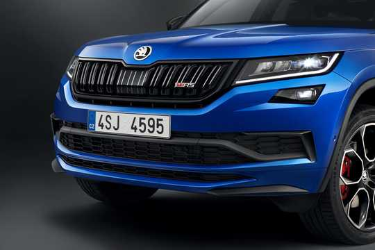 Close-up of Skoda Kodiaq RS 2.0 TDI 4x4 DSG Sequential, 240hp, 2019
