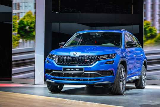Front/Side  of Skoda Kodiaq RS 2.0 TDI 4x4 DSG Sequential, 240hp, 2019