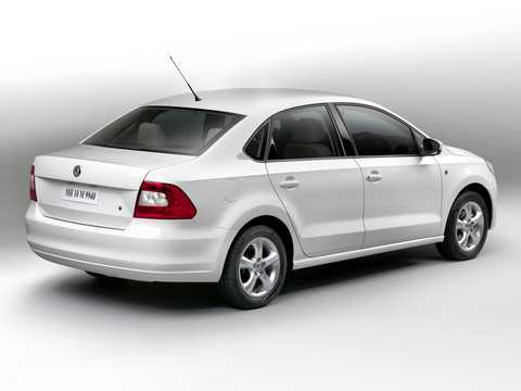 Back/Side of Skoda Rapid (India) 2011