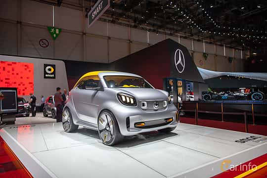 Front/Side  of Smart Forease 0 kWh Single Speed, 82ps, 2019 at Geneva Motor Show 2019