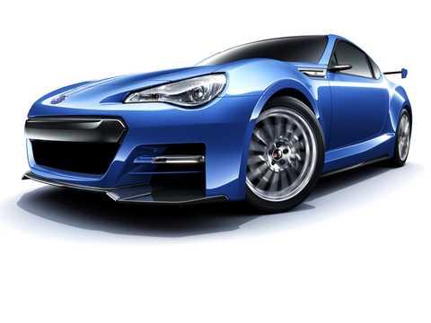 Front/Side  of Subaru BRZ STi Concept Concept, 2011