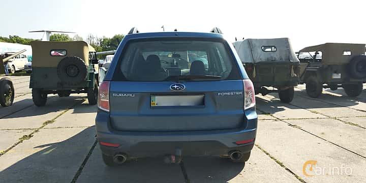 Back of Subaru Forester 2008 at Old Car Land no.1 2019