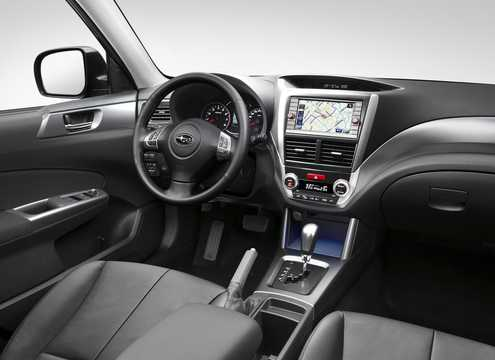 Interior of Subaru Forester 2011