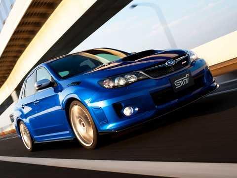Front/Side  of Subaru WRX STi S206 2.0 4WD Manual, 319hp, 2011