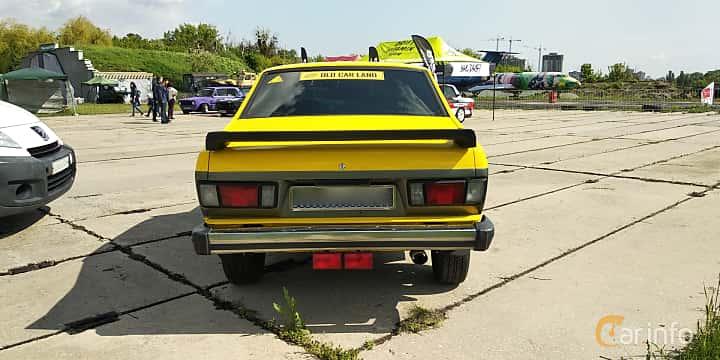 Back of Subaru Leone 4-door Sedan 1977 at Old Car Land no.1 2019