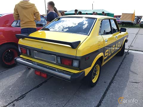 Back/Side of Subaru Leone 4-door Sedan 1977