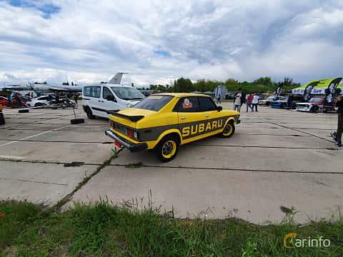 Back/Side of Subaru Leone 4-door Sedan 1977 at Old Car Land no.1 2019