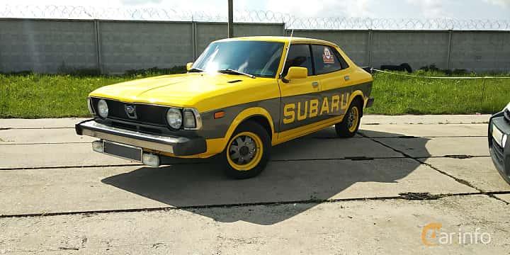 Front/Side  of Subaru Leone 4-door Sedan 1977 at Old Car Land no.1 2019