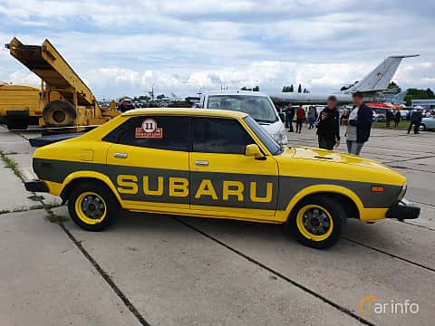 Side  of Subaru Leone 4-door Sedan 1977 at Old Car Land no.1 2019