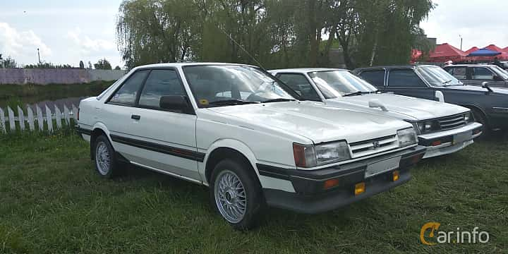 Front/Side  of Subaru Leone Coupé 1.8 4WD Automatic, 98ps, 1986 at Old Car Land no.1 2019