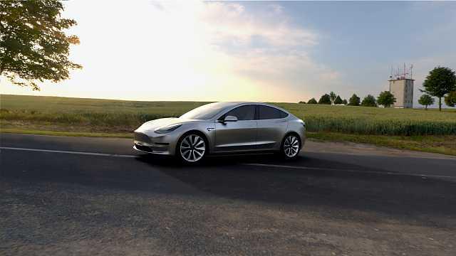 Front/Side  of Tesla Model 3 1st Generation
