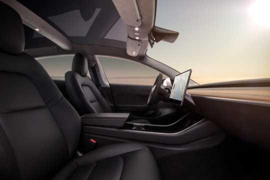 Interior of Tesla Model 3 2018