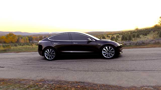 Side  of Tesla Model 3 1st Generation