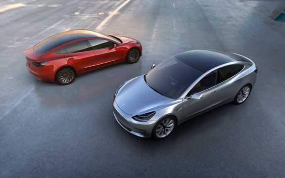 Side  of Tesla Model 3 1st Generation