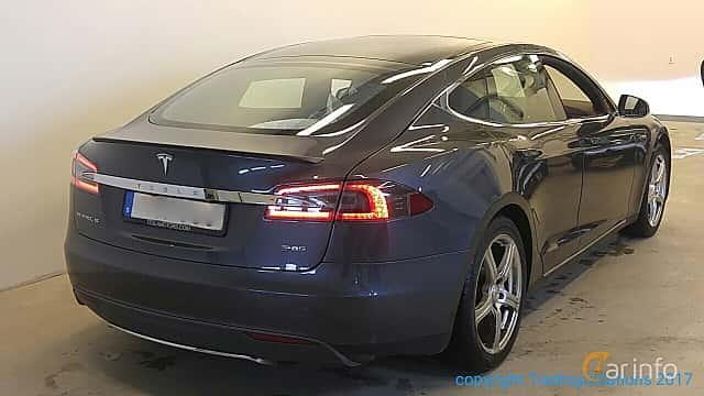 Back/Side of Tesla Model S P85 85 kWh Single Speed, 421ps, 2014