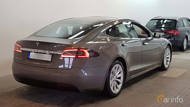 Back/Side of Tesla Model S 90D 90 kWh AWD Single Speed, 423ps, 2016