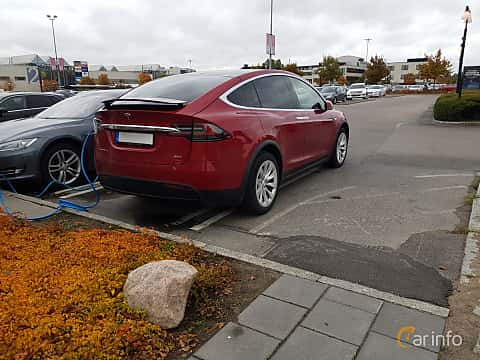 Back/Side of Tesla Model X 90D 90 kWh AWD Single Speed, 423ps, 2016