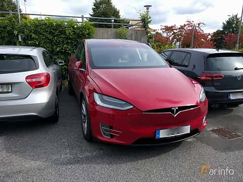 Front  of Tesla Model X P90D 90 kWh AWD Single Speed, 511ps, 2016