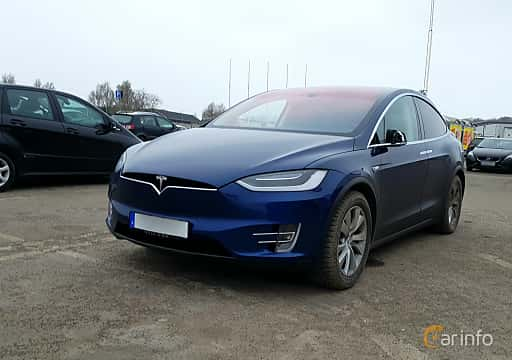 Fram/Sida av Tesla Model X 90D 90 kWh AWD Single Speed, 423ps, 2016