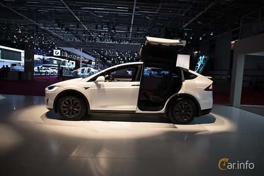 Sida av Tesla Model X 100D 100 kWh AWD Single Speed, 423ps, 2018 på Paris Motor Show 2018