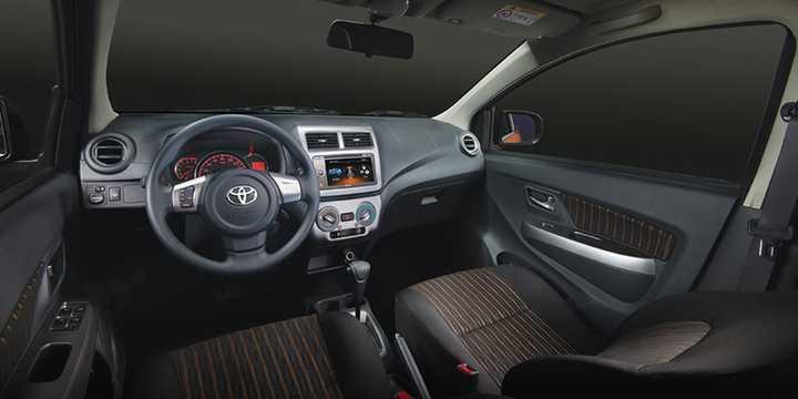 Interior of Toyota Agya 2017