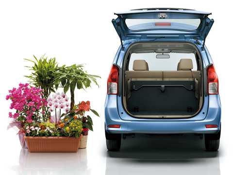 Back of Toyota Avanza 2012