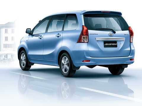 Back/Side of Toyota Avanza 2012