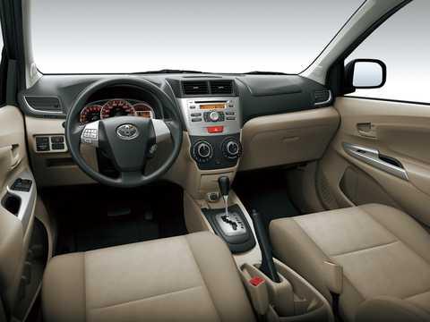 Interior of Toyota Avanza 2012