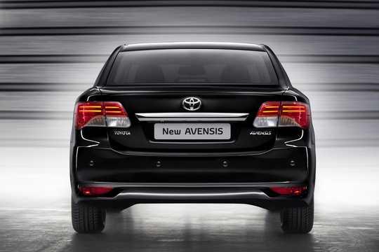 Back of Toyota Avensis Sedan 2012