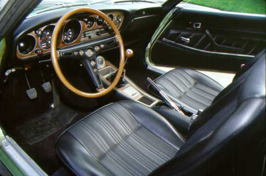 Interior of Toyota Celica Coupé 1971