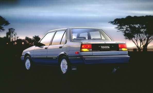 Back/Side of Toyota Corolla Sedan 1985
