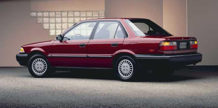 Back/Side of Toyota Corolla Sedan 1989