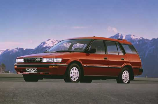 Front/Side  of Toyota Corolla Station Wagon 1989