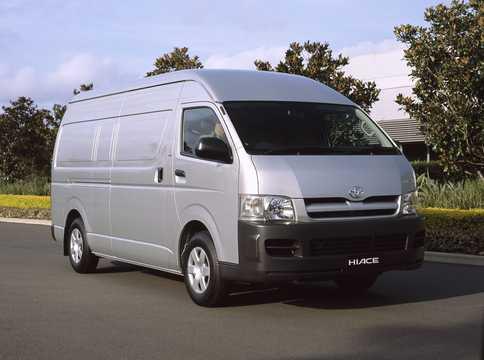 Front/Side  of Toyota HiAce 4-door 2005