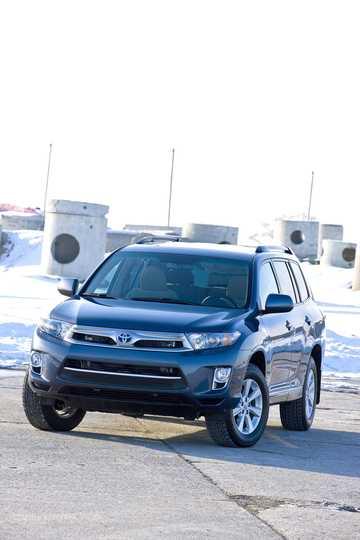 Fram/Sida av Toyota Highlander 3.5 V6 Hybrid AWD Automatisk, 248hk, 2011