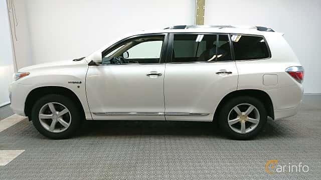 Side  of Toyota Highlander 3.5 V6 Hybrid AWD Automatic, 248ps, 2011