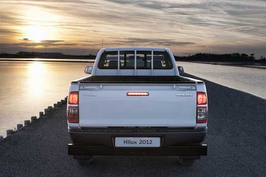 Back of Toyota Hilux Double Cab 2012