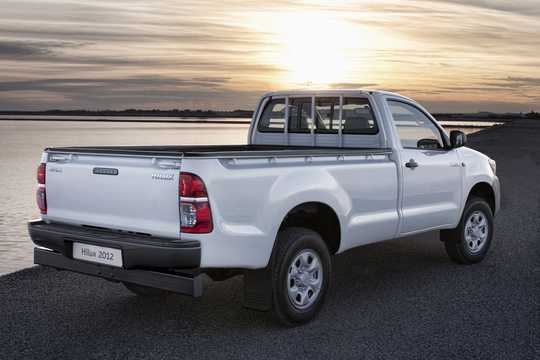 Back/Side of Toyota Hilux Double Cab 2012