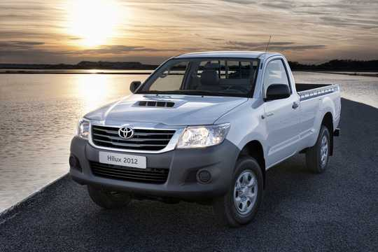 Front/Side  of Toyota Hilux Double Cab 2012