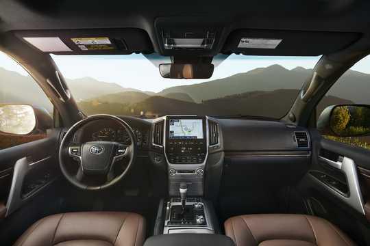 Interior of Toyota Land Cruiser 2016