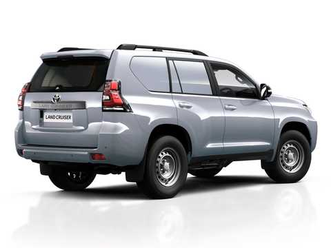 Back/Side of Toyota Land Cruiser Prado Commercial LWB 2.8 D-4D 4WD Manual, 177hp, 2019