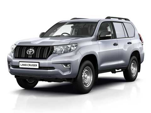 Front/Side  of Toyota Land Cruiser Prado Commercial LWB 2.8 D-4D 4WD Manual, 177hp, 2019