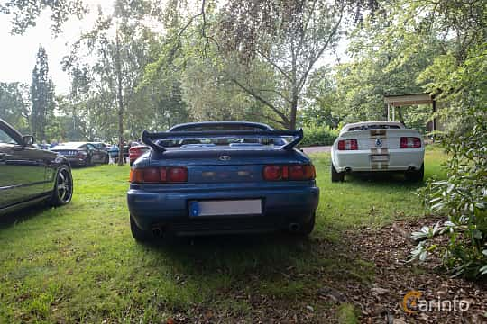 Back of Toyota MR2 2.0 Manual, 154ps, 1997 at Billesholms Veteranbilsträff 2019 augusti