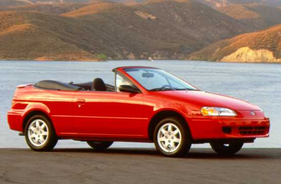 Front/Side  of Toyota Paseo Convertible 1997