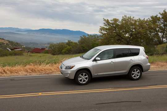 Front/Side  of Toyota RAV4 EV 35 kWh Single Speed, 156hp, 2012