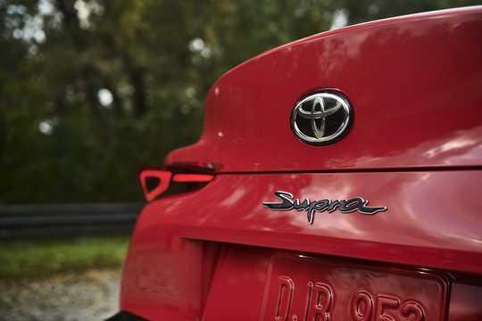 Närbild av Toyota Supra 2019