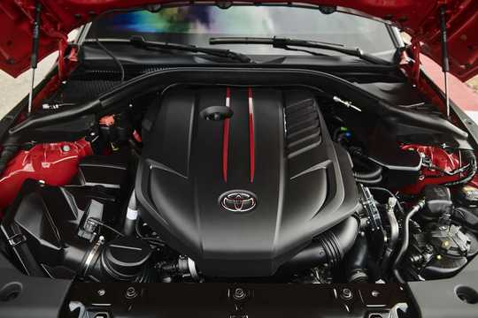 Engine compartment  of Toyota GR Supra 2019